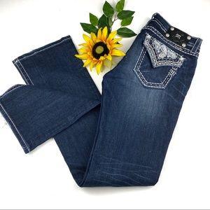 Miss Me Flap Pocket mid Rise Bootcut Jeans